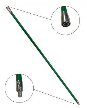 Schoorsteenveegstok 1 meter M12 met borgunit