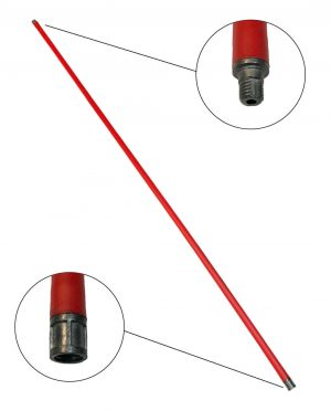 Schoorsteenveegstok rood 1 meter M12