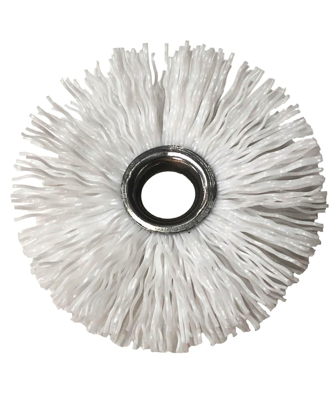 nylon borstel 80mm voor pelletkachel haspel