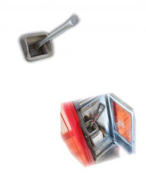 Borstel/schraper voor pelletkachelbakje