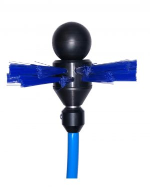 Kanaalborstels ronde uitvoering met M10 aansluiting