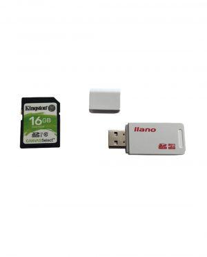 USB SD kaart lezer + 16GB SD kaart